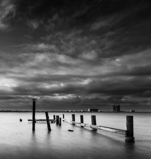 Battered Galveston Pier - Fine Art Photographer - Houston - Mabry Campbell