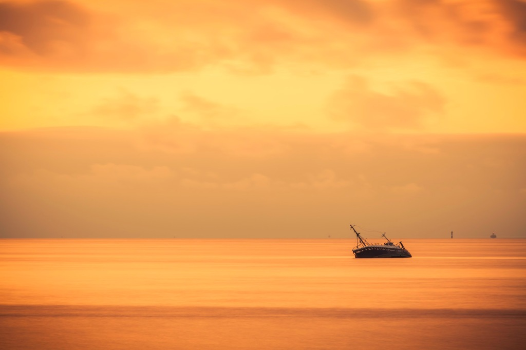 Beached Trawler - Fine Art Photographer - Houston - Mabry Campbell