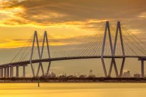 Fred Hartman Bridge Sunset II - Fine Art Photographer - Houston - Mabry Campbell