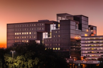 Koch Building Sunrise - Mabry Campbell