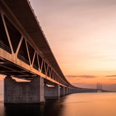 Orange Öresundsbron - Fine Art Photographer - Houston - Mabry Campbell