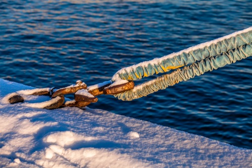 Snow Covered Mooring - Mabry Campbell