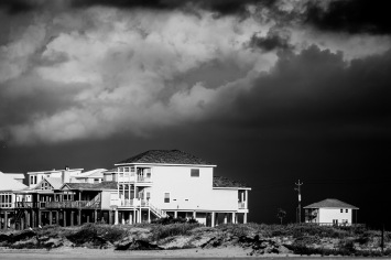 Storm Over Beach Homes