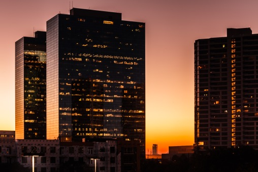 Sunrise At Greenway Plaza - Mabry Campbell