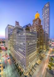 Travis At Walker Vertical Panorama ~ Northwest Downtown Houston - Architectural Photographer - Houston - Mabry Campbell
