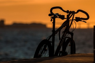Bicycle-Sunset-at-Western-Harbor-Mabry-Campbell