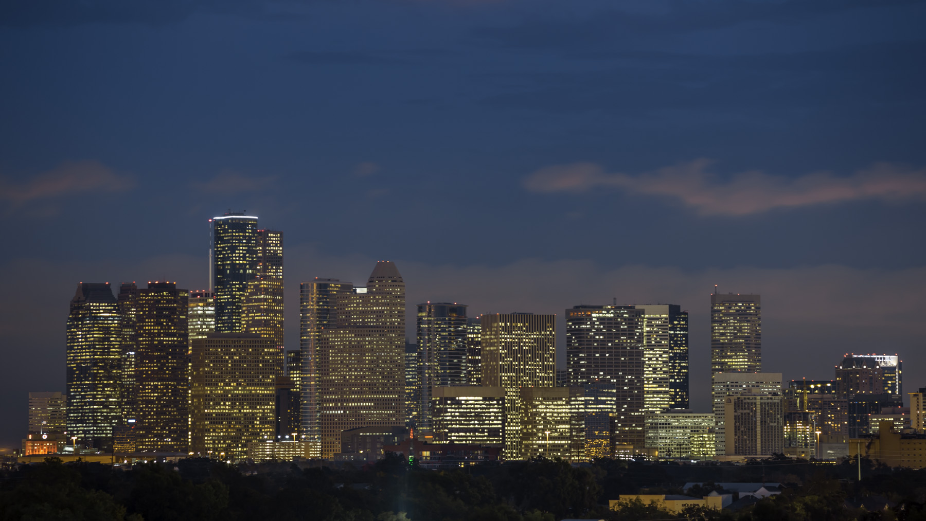 Downtown-Houston-Blue-Hour-II-Mabry-Campbell