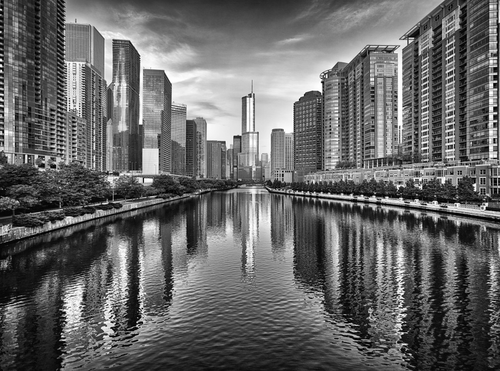Trump-Tower-And-Chicago-River-Skyline-M-Mabry-Campbell