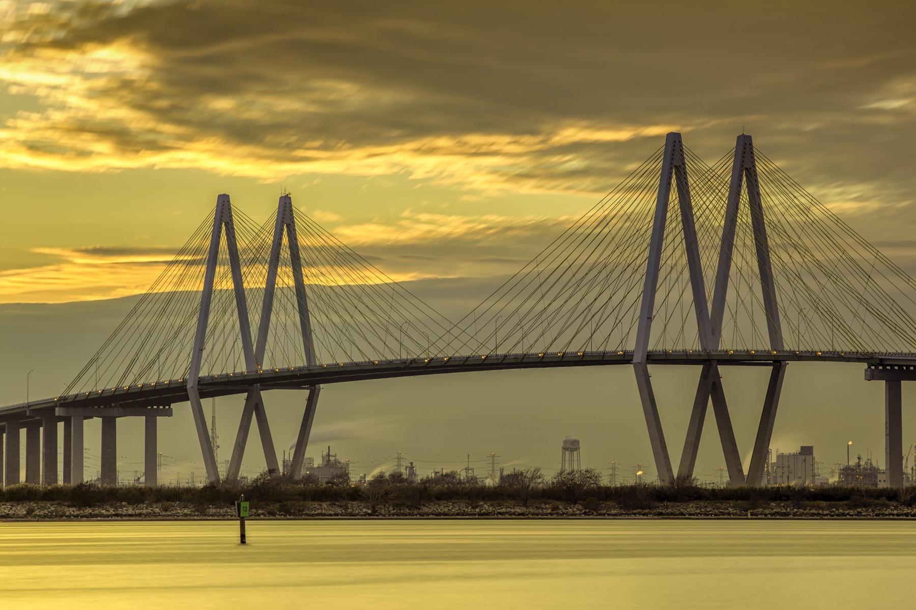 Fred-Hartman-Bridge-Sunset-II-Mabry-Campbell