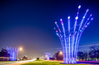 Radiant Fountains At Bush Intercontinental Airport - Architecture Photographer - Houston - Mabry Campbell