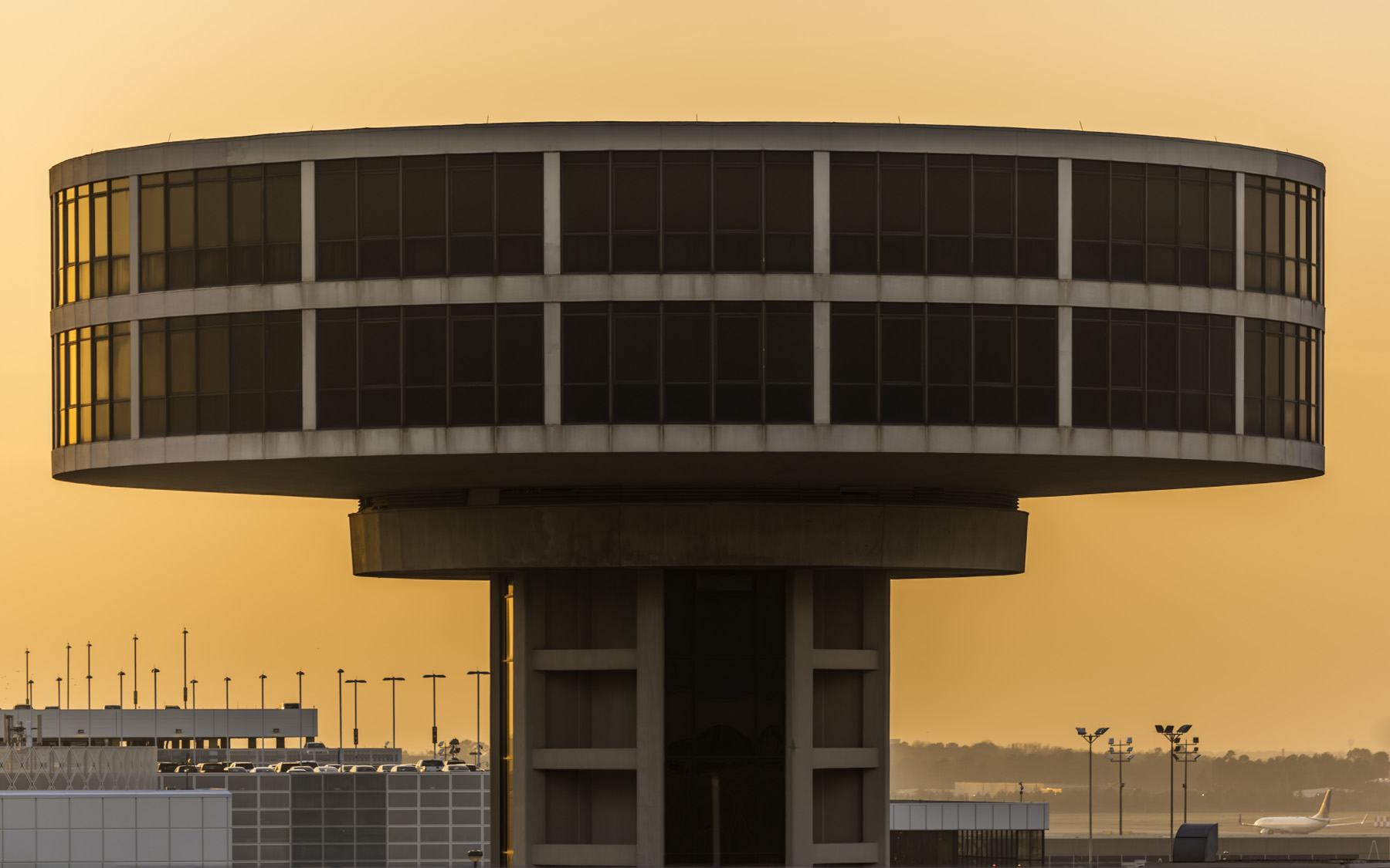Control Tower Sunset - Architectural Photographer - Houston - Mabry Campbell