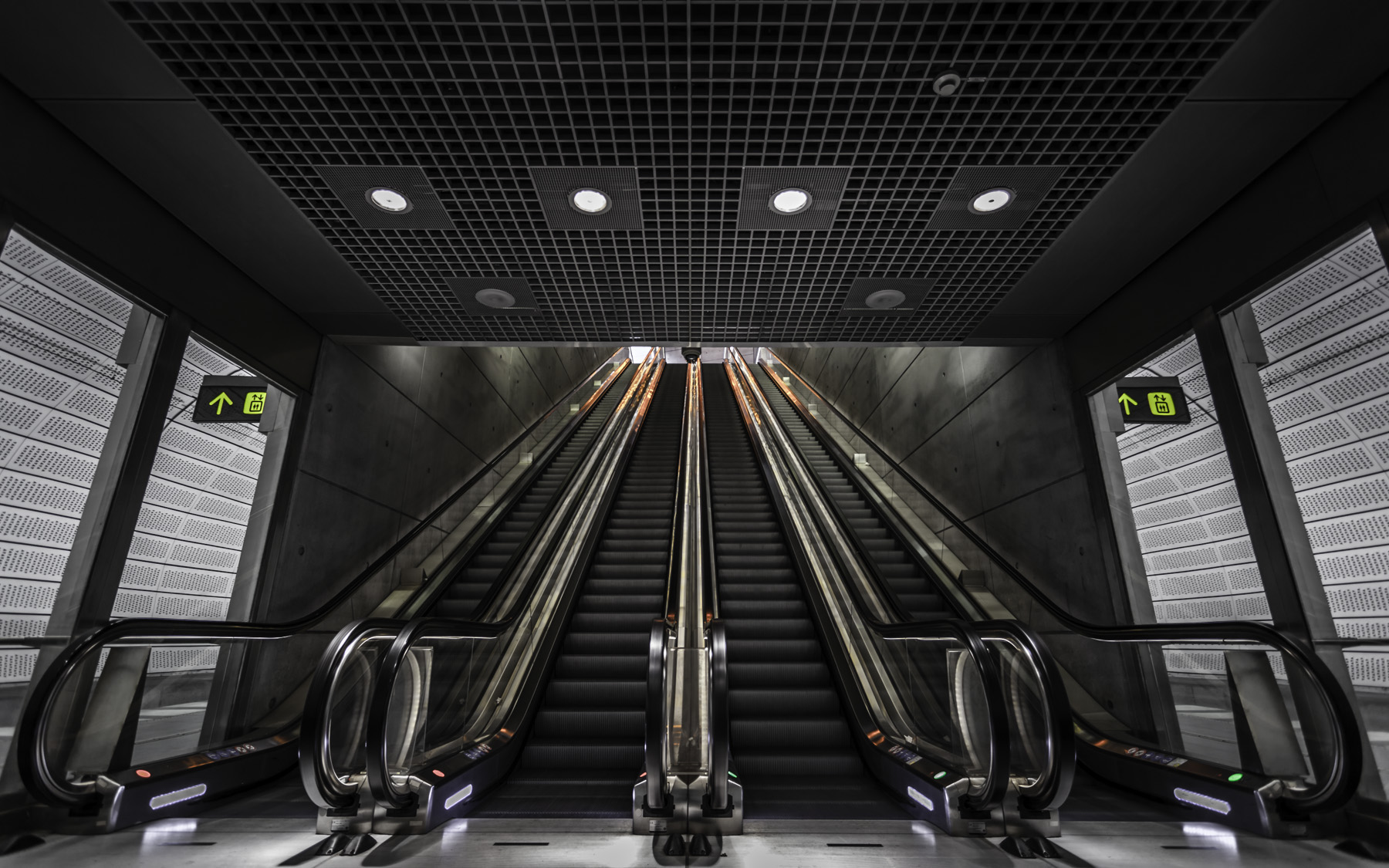Track-Level-Escalators-Of-Triangeln-Station-Mabry-Campbell