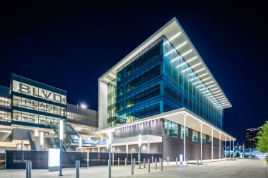 BLVD Place South Facade Night - Mabry Campbell