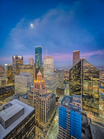 Houston-Skyline-Moon-Over-Esperson-Chase-and-Pennzoil-Place-West-Side-Mabry-Campbell