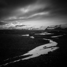 Snow Drifts On Icelandic Rocks - Mabry Campbell