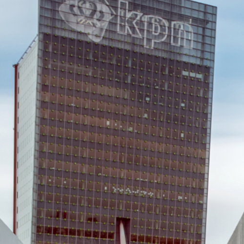 KPN Telecom Tower - paper in windows