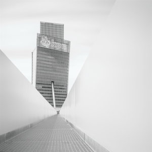 KPN Telecom Tower - High key black and white