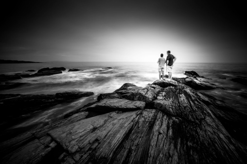 Couple At Cape-Elizabeth-Dyer-Point-Mabry-Campbell