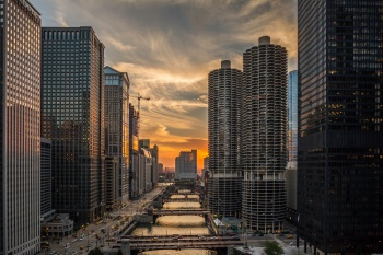 Down-The-Chicago-River-Sunset-Mabry-Campbell