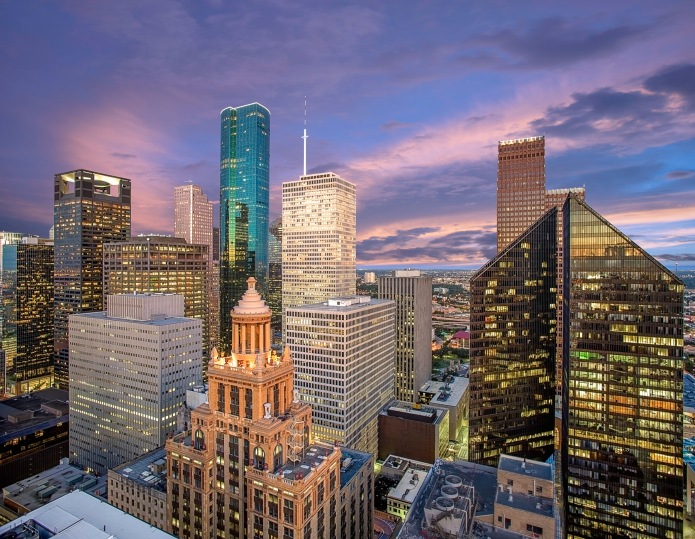 Houston-Skyline-Sunrise-West-Side-Downtown-Mabry-Campbell