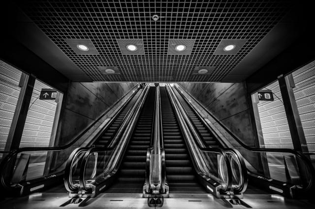 Lower-Escalators-At-Triangeln-Mabry-Campbell
