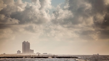 Oil-Taker-Approaching-Galveston-At-Sunrise-Mabry-Campbell
