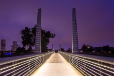 Pedestrian-Bridge-At-Houston-Police-Officer's-Memorial-Purple-Mabry-Campbell