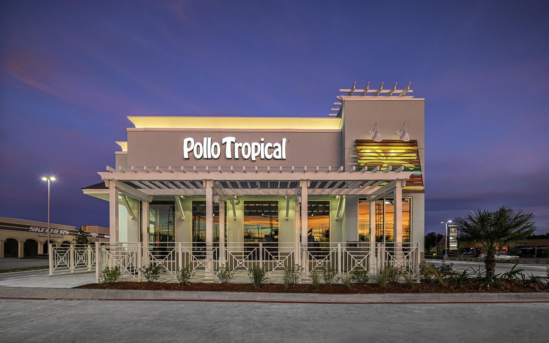 Restaurant Facade pollo tropical restaurant – west facade | mabry campbell photo blog