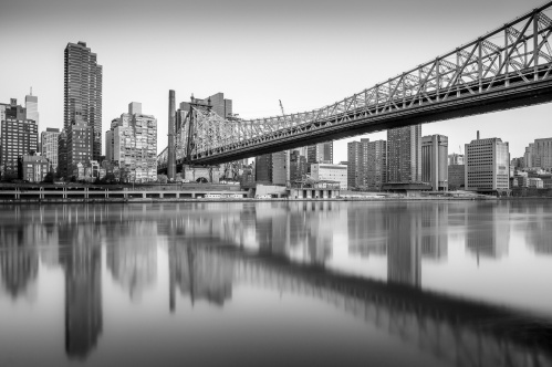 Queensboro-Bridge-Black-and-White-Reflections-Mabry-Campbell