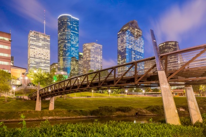 Sabine-To-Bagby-Promenade-In-Downtown-Houston-Blue-Hour-Skyline-Mabry-Campbell