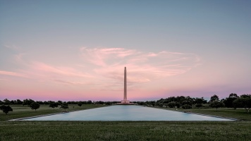 San-Jacinto-Monument-and-Reflecting-Pool-Pastel-Sky-Mabry-Campbell