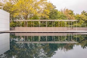 The Rachofsky House - Pool Patio Reflection