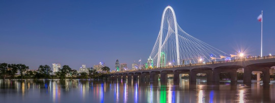 Margaret-Hunt-Hill-Bridge-Over-The-Flooded-Trinity-River-Panorama-Mabry-Campbell