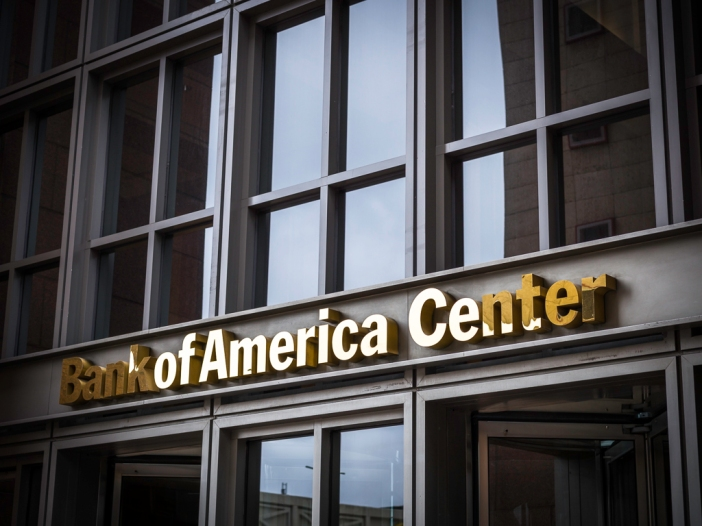 Bank of America Center Sign