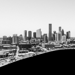 Downtown-Houston-Skyline,-North-Mabry-Campbell
