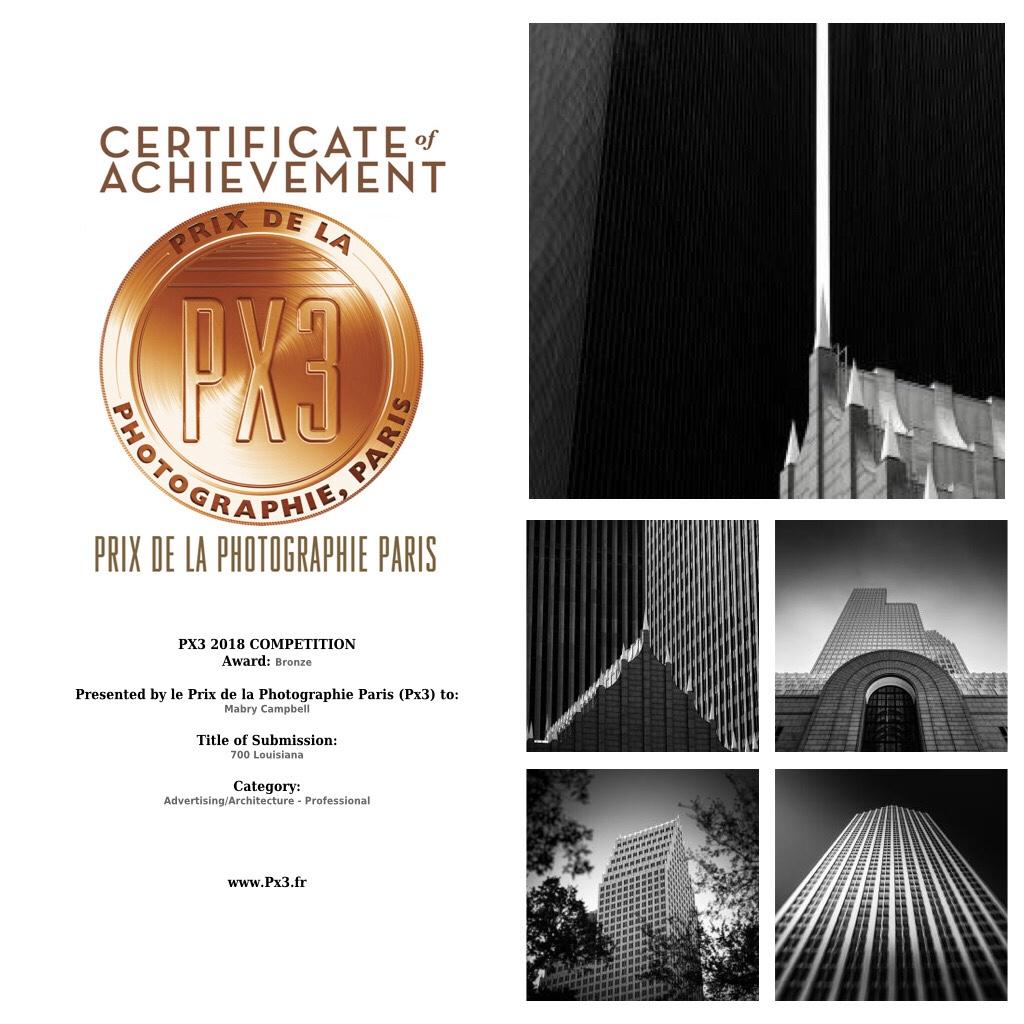 2018 PX3 Photo Awards - Prix de la Photographie Paris - Bronze Winner in Advertising/Architecture for series
